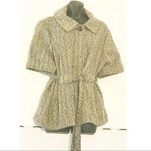 Pea Coat 16W-18W Gray Short Sleeve